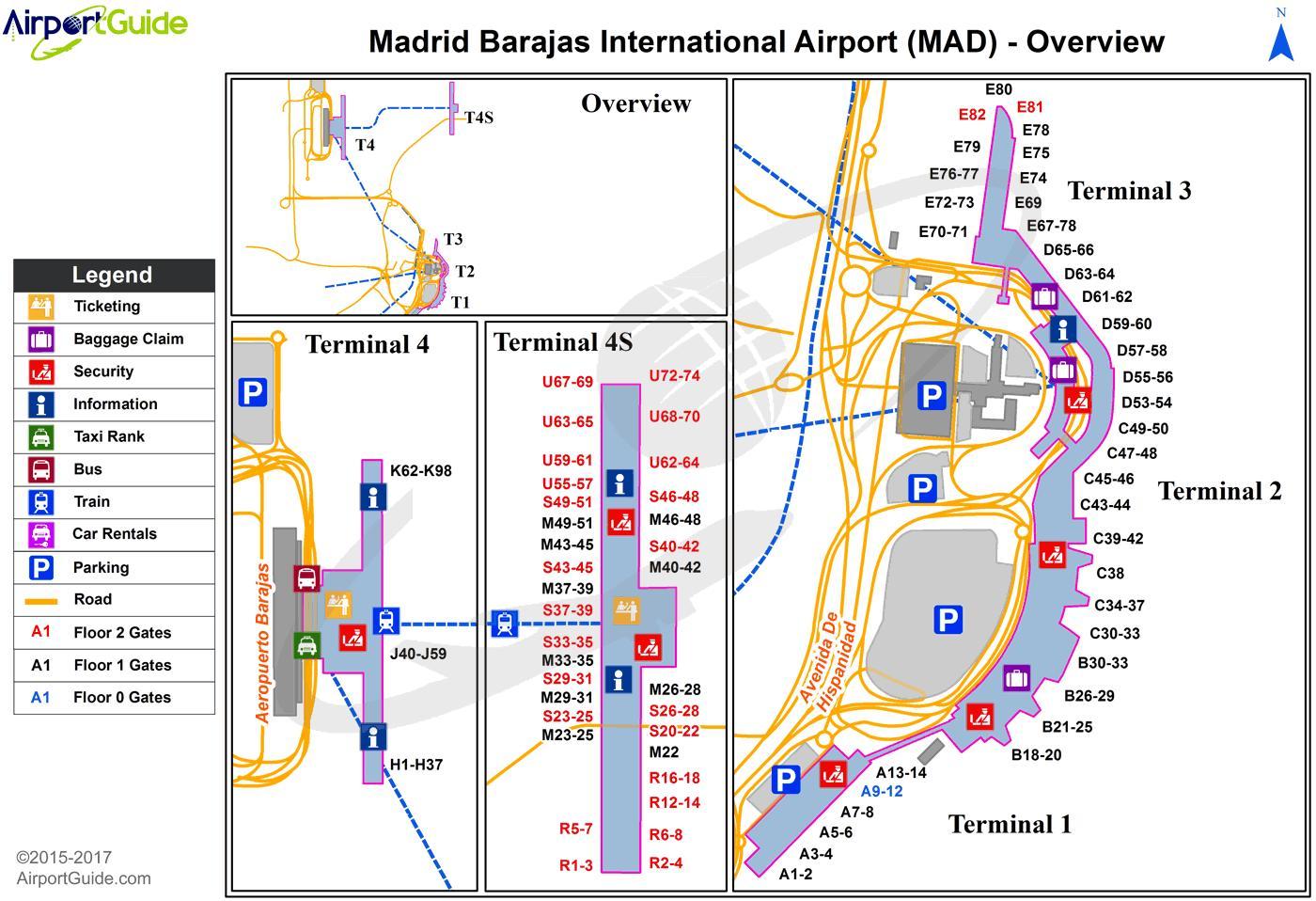 Madrid Spanien Lufthavn Kort Kort Over Madrid Spanien Lufthavn