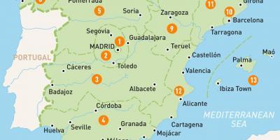 Madrid Kort Kort Madrid Spanien